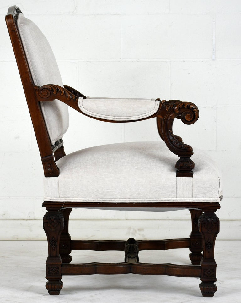 Pair of Early 19th Century French Louis XVI-Style Armchairs For Sale 1