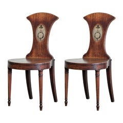 Pair of Early 19th Century Hall Chairs