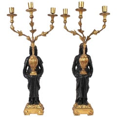 Pair of Early 19th Century English Regency Neoclassical Candelabra