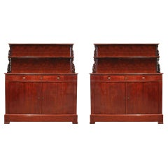 Pair of Early 19th Century Louis Philippe Period Mahogany Buffets, circa 1830