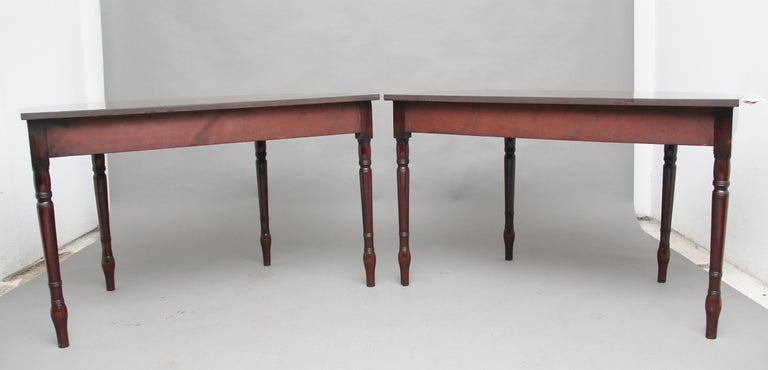 British Pair of Early 19th Century Mahogany Console Tables For Sale