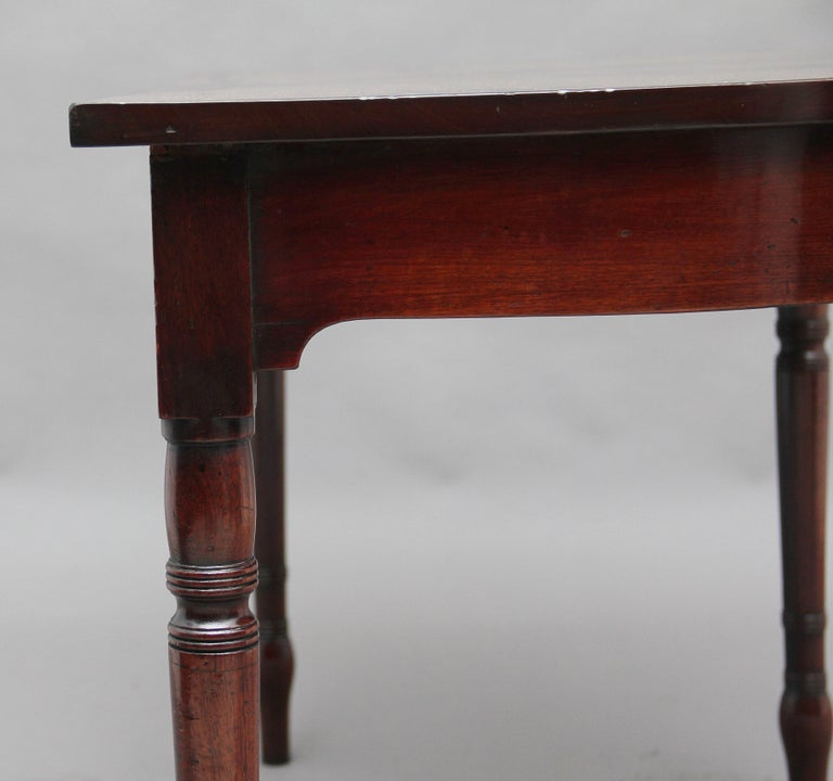 Pair of Early 19th Century Mahogany Console Tables For Sale 3