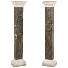 Pair of Early 19th Century Marble Columns