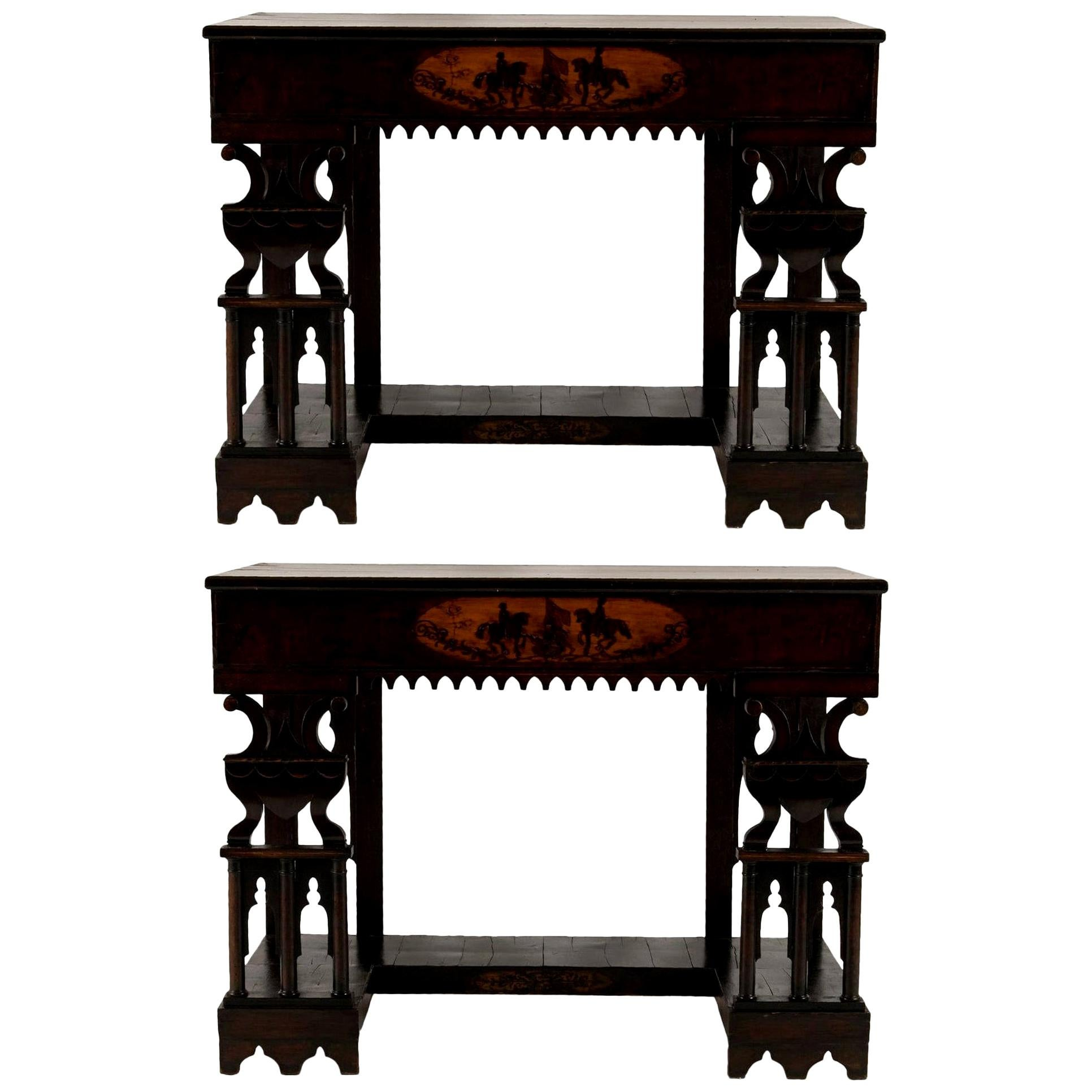 Pair of Early 19th Century Neapolitan Consoles