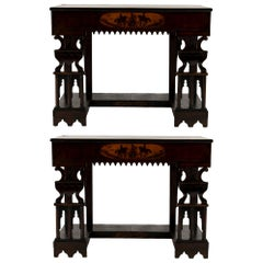 Pair of Early 19th Century Neopolitan Consoles