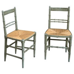 Pair of Early 19th Century Painted Regency Side Chairs