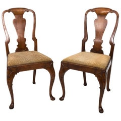 Pair of Early 19th Century Queen Anne Side Chairs