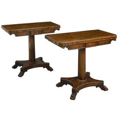 Pair of Early 19th Century Regency Period Rosewood Card Tables