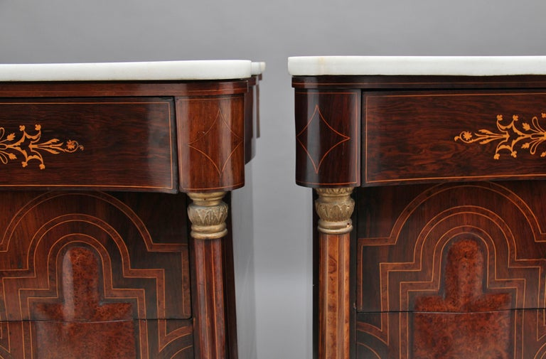 Pair of Early 19th Century Spanish Marble Top Commodes For Sale 5