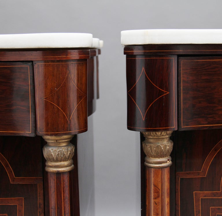 Pair of Early 19th Century Spanish Marble Top Commodes For Sale 6