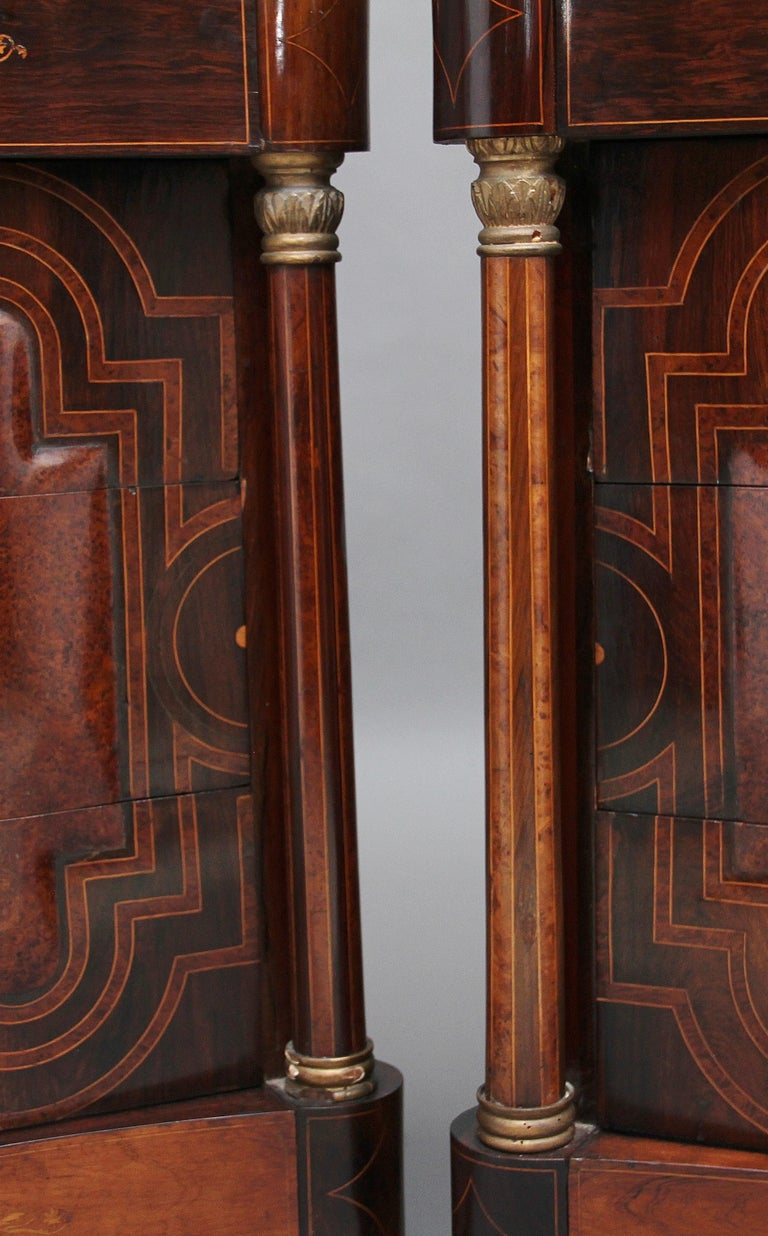 Pair of Early 19th Century Spanish Marble Top Commodes For Sale 7