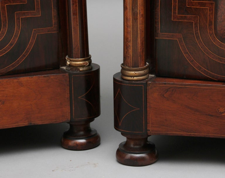 Pair of Early 19th Century Spanish Marble Top Commodes For Sale 9