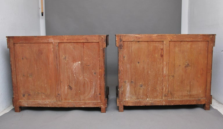 Pair of Early 19th Century Spanish Marble Top Commodes For Sale 2