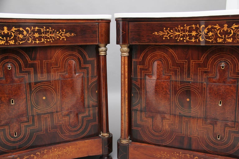 Pair of Early 19th Century Spanish Marble Top Commodes For Sale 4