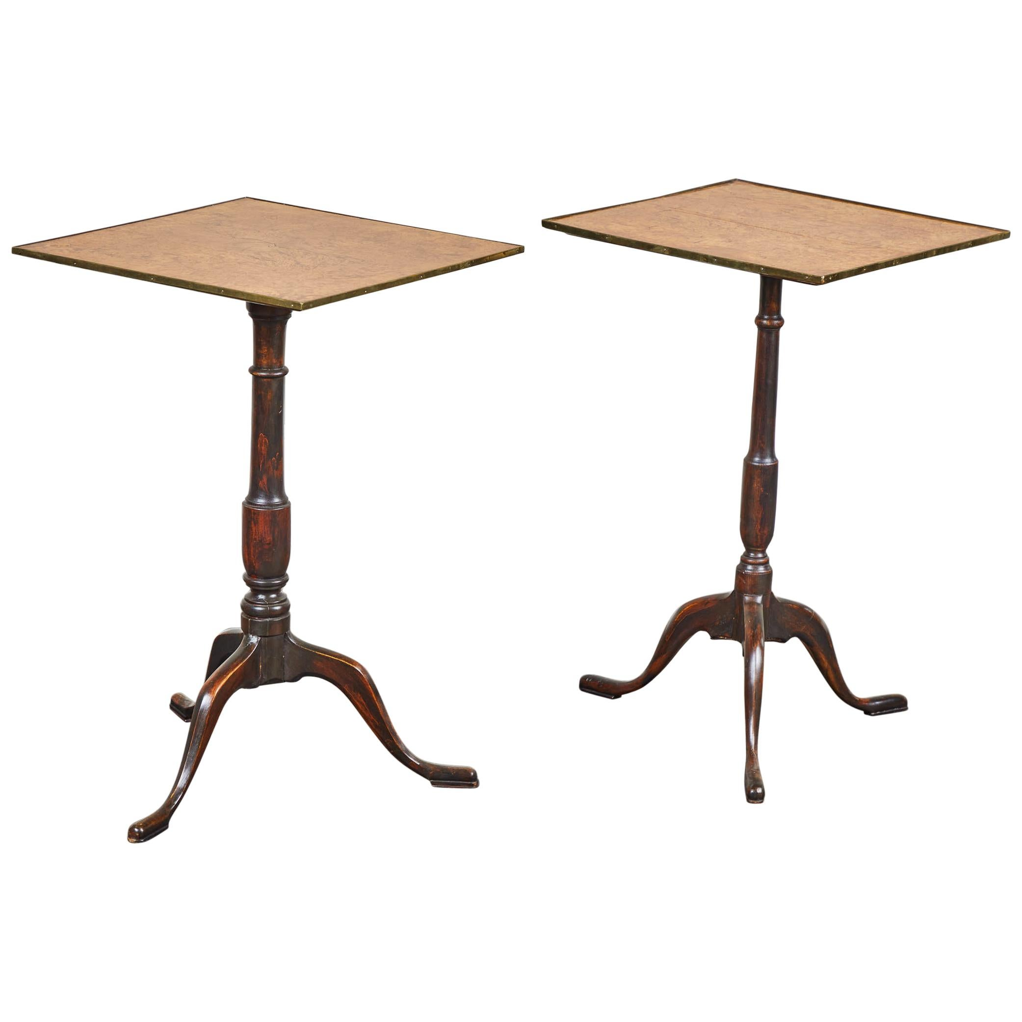 Pair of Early 19th Century Swedish Pedestal Tilt-Top Tables