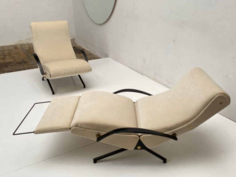 Pair of Early 1st Edition P40 Chairs, Osvaldo Borsani, Tecno Italy 1956 Restored For Sale 2