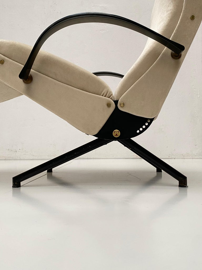 Pair of Early 1st Edition P40 Chairs, Osvaldo Borsani, Tecno Italy 1956 Restored For Sale 6