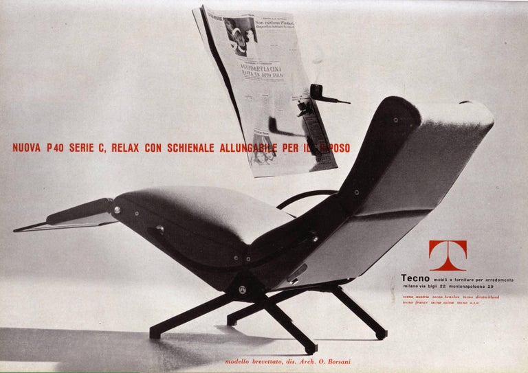 Pair of Early 1st Edition P40 Chairs, Osvaldo Borsani, Tecno Italy 1956 Restored For Sale 8
