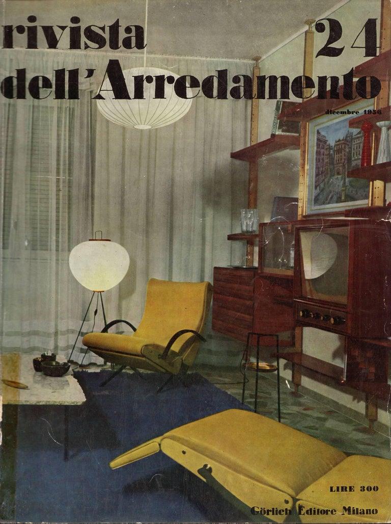 The December 1956 issue of the Italian design journal declared Osvaldo Borsani's new 'P40' variable tilt armchairs