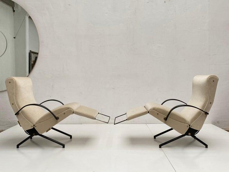 Italian Pair of Early 1st Edition P40 Chairs, Osvaldo Borsani, Tecno Italy 1956 Restored For Sale
