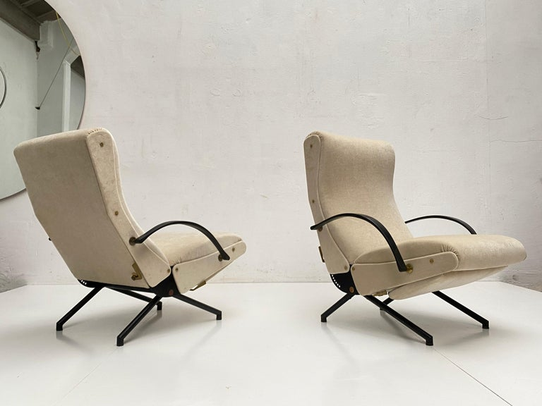 Pair of Early 1st Edition P40 Chairs, Osvaldo Borsani, Tecno Italy 1956 Restored In Good Condition For Sale In bergen op zoom, NL