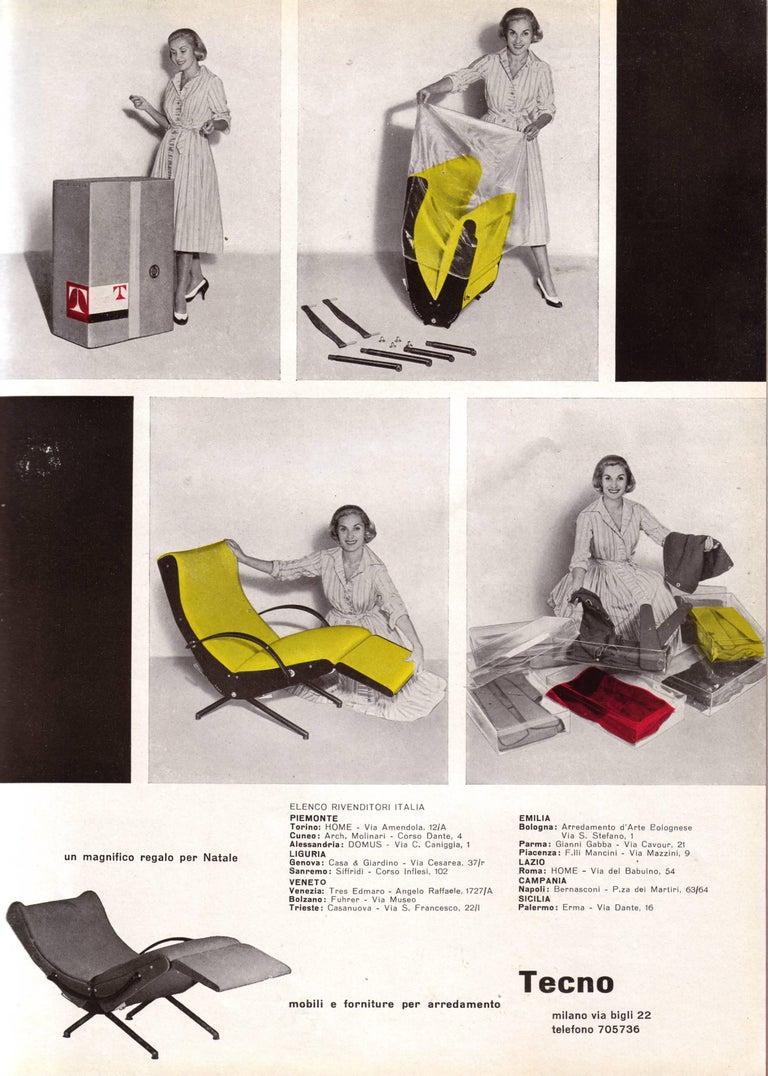 Velvet Pair of Early 1st Edition P40 Chairs, Osvaldo Borsani, Tecno Italy 1956 Restored For Sale