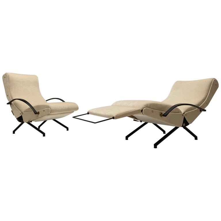Pair of Early 1st Edition P40 Chairs, Osvaldo Borsani, Tecno Italy 1956 Restored For Sale
