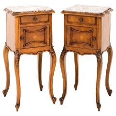 Pair of Early 20th Century Walnut Bedside Cabinets