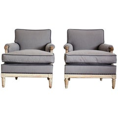 Pair of Early 20th Century French Painted Armchairs