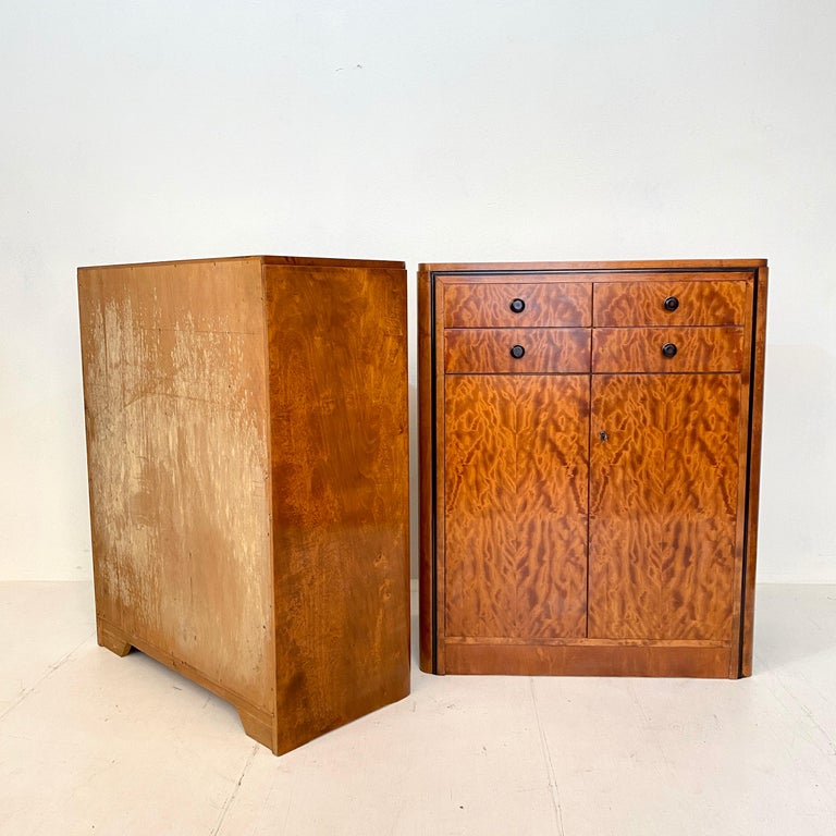 Pair of early 20th Century Art Deco Dresser Chest of Drawers in Mahogany For Sale 2