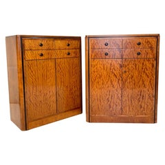 Pair of early 20th Century Art Deco Dresser Chest of Drawers in Mahogany