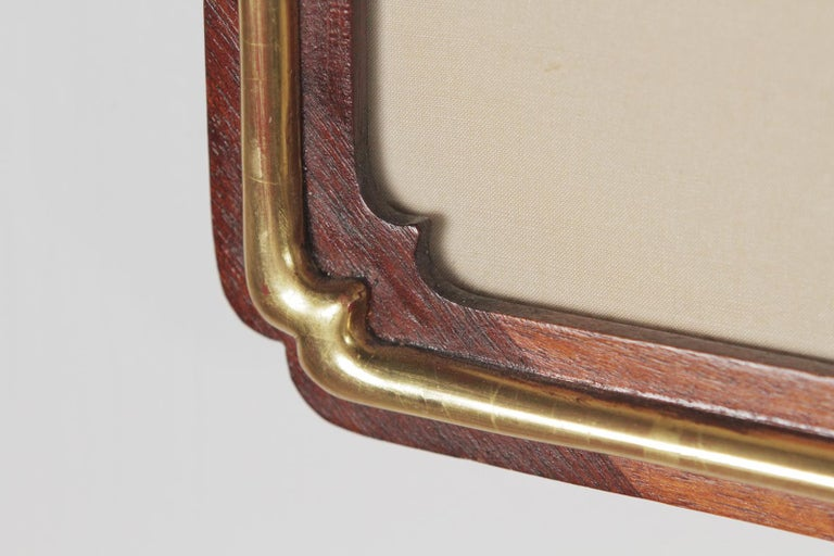 Wood Pair of Early 20th Century Asian Watercolors Mounted in Custom Frames For Sale