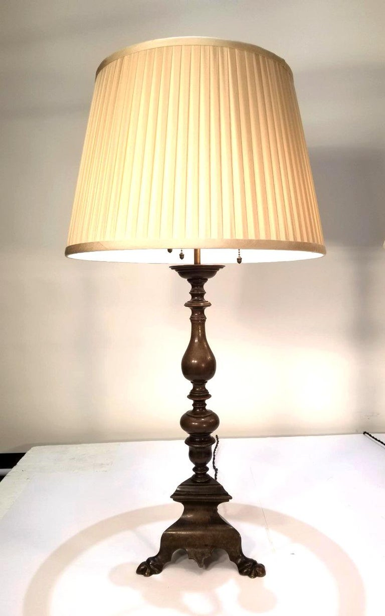 Baroque Revival Pair of Early 20th Century Baroque Style Caldwell Table Lamps For Sale