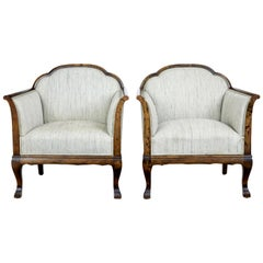 Pair of Early 20th Century Birch Armchairs