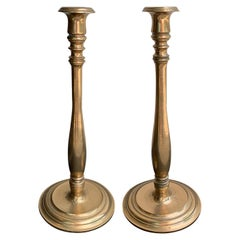 Pair of Early 20th Century Bronze Candlesticks
