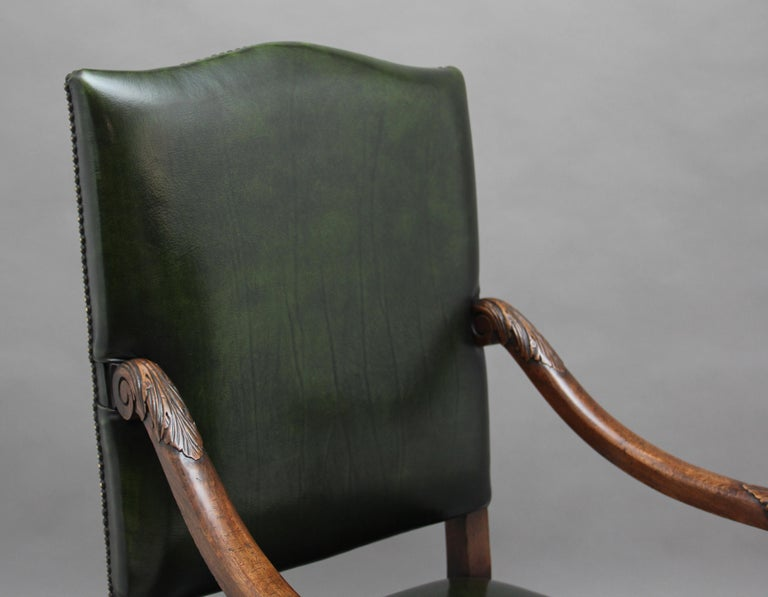 Pair of Early 20th Century Carved Armchairs in the Carolean Style For Sale 1
