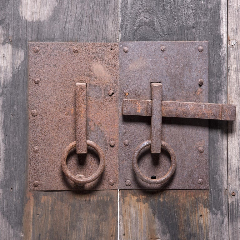 Pair of Early 20th Century Chinese Courtyard Doors In Good Condition For Sale In Chicago, IL