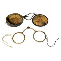 Pair of Early 20th Century Chinese Eyeglasses with Original Case