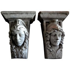 Pair of Early 20th Century Classical Style Architectural Wall Corbels