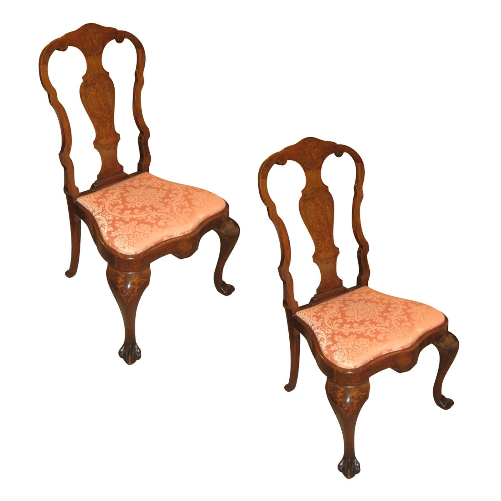 Pair of Early 20th Century Dutch Side Chairs