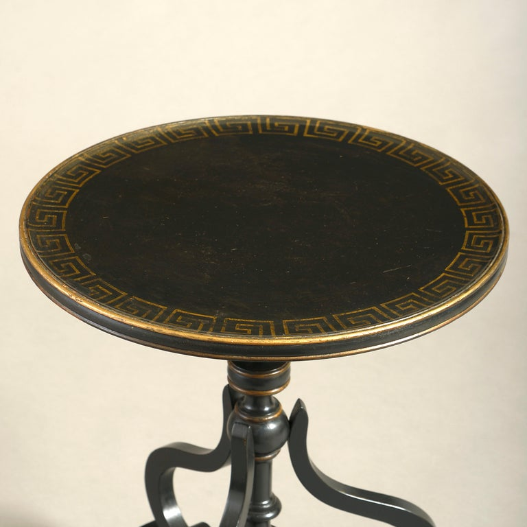 Regency Pair of Early 20th Century Ebonized End Tables For Sale