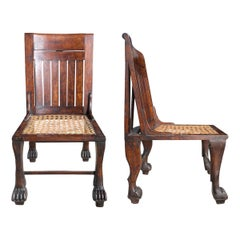 Pair of Early 20th Century English Egyptian Revival Chairs