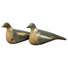 Pair of Early 20th Century English Pigeon Decoys