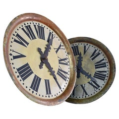 Pair of Early 20th Century English Toleware Clock Faces