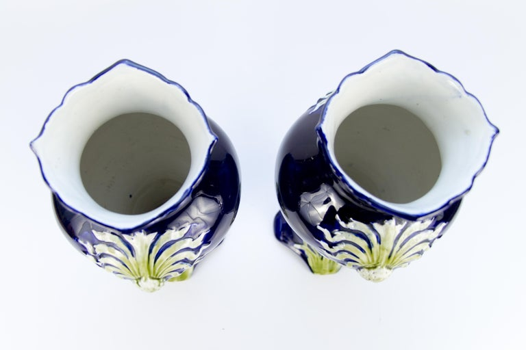 Pair of Early 20th Century French Art Nouveau Vases by J. Bernard De Bruyne For Sale 2