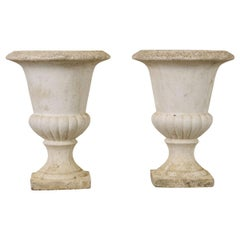 Pair of Early 20th Century French Cast Stone Planters