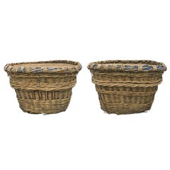 Pair of Early 20th Century French Champagne Basket Tables