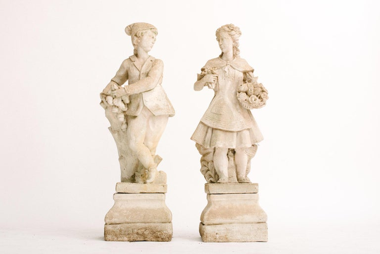 Pair of Early 20th Century French Garden Statues For Sale 1