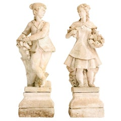 Pair of Early 20th Century French Garden Statues