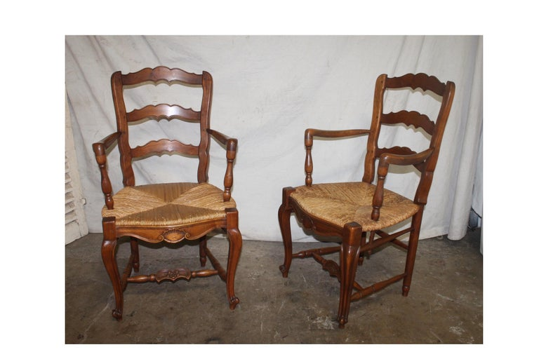 Pair of early 20th century French Provençal armchairs.